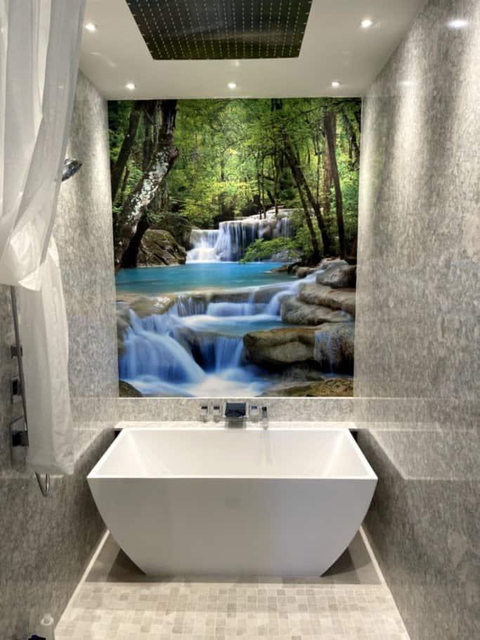 Master Bathroom Waterfall Wallpaper